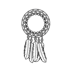 Dream catcher design for headstones
