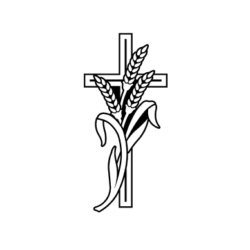 wheat and cross carving for headstone