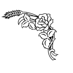 wheat and rose carving for headstone